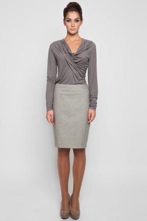 Блуза трикотажная NVCollection. Цвет: серый