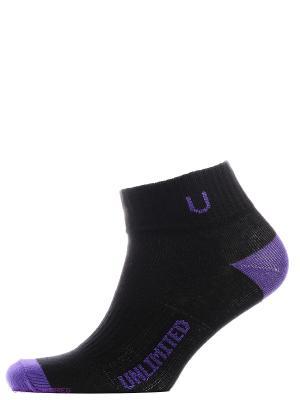 Носки спортивные 5 пар Unlimited. Цвет: черный, фиолетовый