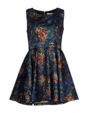 Короткое платье ELLA LUNA. Цвет: синий