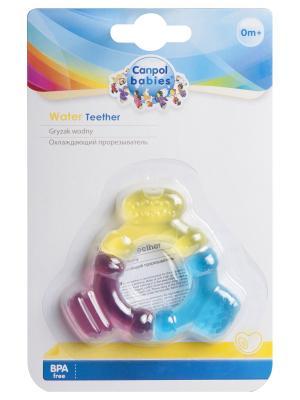 Прорезыватель водный охлаждающий трехцветный, 0+ Canpol babies. Цвет: голубой, желтый, розовый