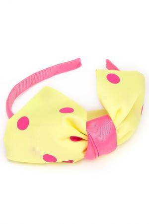 Ободок NICE GIRL. Цвет: желтый, розовый