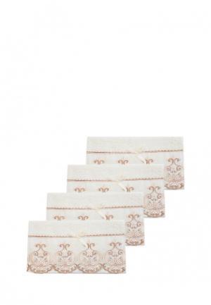 Комплект полотенец 4 шт. La Pastel. Цвет: бежевый