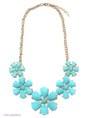 Колье Lovely Jewelry. Цвет: голубой, золотистый