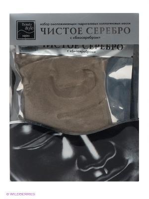 Коллагеновая гидрогелевая маска с биосеребром Beauty Style. Цвет: серый, черный