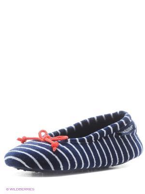 Тапочки Isotoner. Цвет: синий, красный, белый