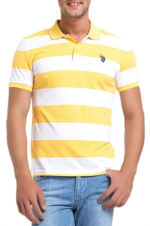 Поло U.S. Polo Assn.. Цвет: желтый