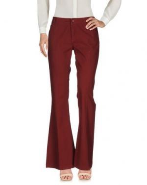 Повседневные брюки ANOTHER LABEL. Цвет: красно-коричневый