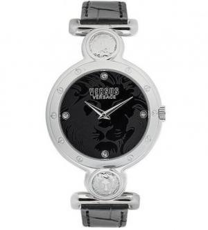 Часы круглой формы с кожаным ремешком VERSUS
