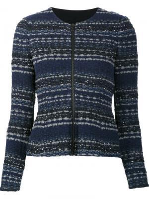 Пиджак на молнии Rebecca Taylor. Цвет: синий
