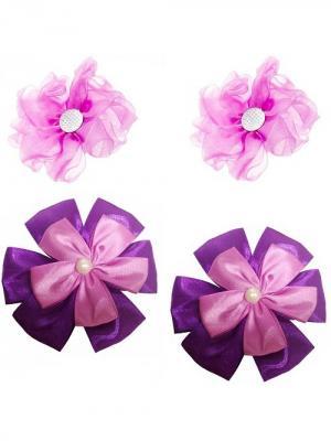Набор аксессуаров для волос City Flash. Цвет: фиолетовый, серебристый, сиреневый