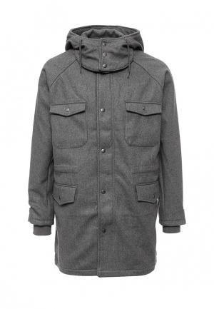 Пальто Topman. Цвет: серый
