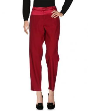Повседневные брюки SALVATORE FERRAGAMO. Цвет: красно-коричневый