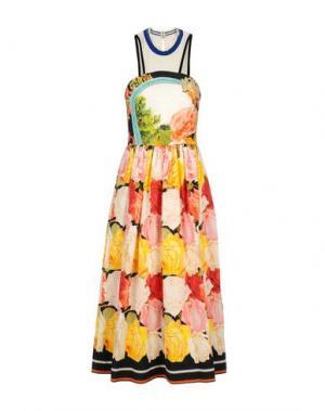 Платье длиной 3/4 MARY KATRANTZOU. Цвет: розовый