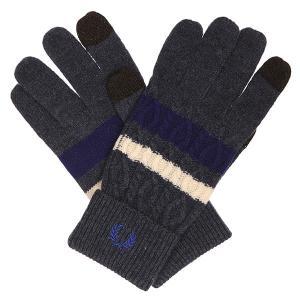 Перчатки  Cable Tipped Touchscreen Glvs Navy/Grey Fred Perry. Цвет: синий,серый
