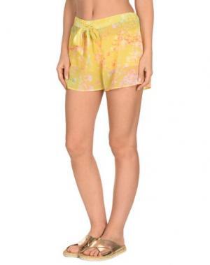 Пляжные брюки и шорты MISS NAORY. Цвет: желтый
