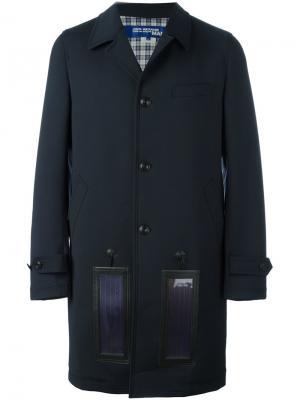 Пальто с контрастными панелями Junya Watanabe Comme Des Garçons Man. Цвет: синий