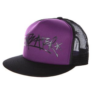 Бейсболка с сеткой  Trucker violet Anteater. Цвет: черный,фиолетовый