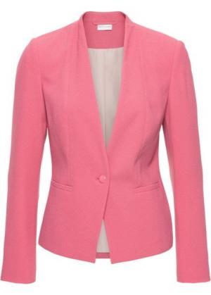 Пиджак (ярко-розовый матовый) bonprix. Цвет: ярко-розовый матовый