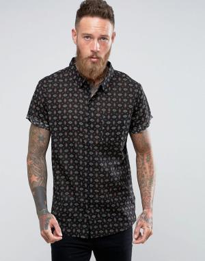 Rollas Черная рубашка. Цвет: черный
