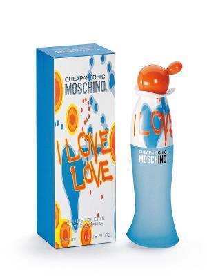 Туалетная вода Moschino I Love Love, 30 мл. Цвет: голубой
