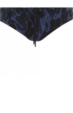 Плавки с принтом Ermenegildo Zegna. Цвет: темно-синий