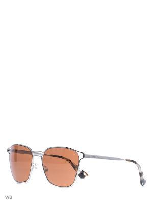 Очки солнцезащитные PRADA. Цвет: серебристый