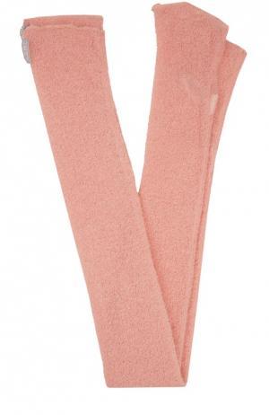 Вязаные гетры Deha. Цвет: розовый