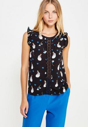 Блуза Naf. Цвет: черный