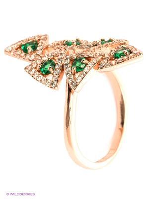 Кольцо Bijoux Land. Цвет: золотистый, зеленый