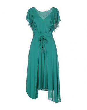 Платье до колена LUISA BECCARIA. Цвет: бирюзовый
