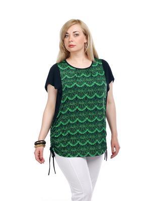 Блуза OLSI. Цвет: зеленый, черный