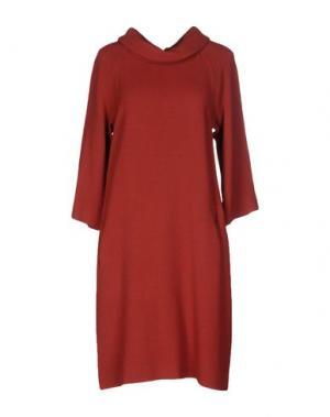 Короткое платье GOSSIP. Цвет: кирпично-красный