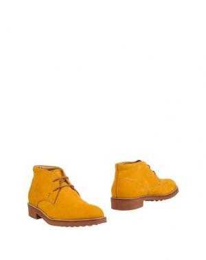 Полусапоги и высокие ботинки TOD'S. Цвет: охра