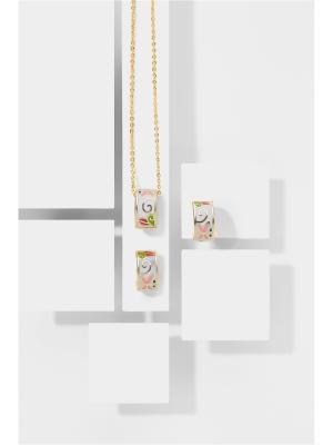 Набор украшений Леди баттерфляй: цепочка с кулоном и серьги Nothing but Love. Цвет: золотистый, белый, голубой