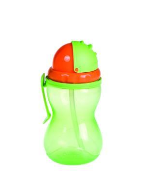 Поильник спортивный 370 мл, 12+ Canpol babies. Цвет: зеленый