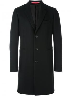 Классическое однобортное пальто Ps By Paul Smith. Цвет: чёрный