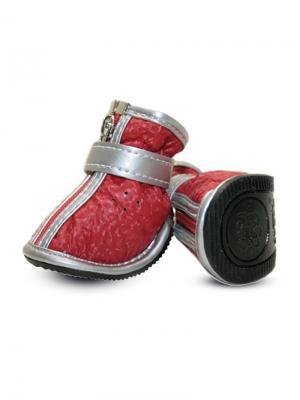Ботинки для собак TRIOL. Цвет: красный