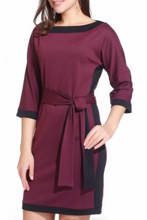 Платье Gloss. Цвет: бордовый, черный