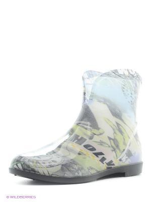 Резиновые сапоги BRIS. Цвет: серый