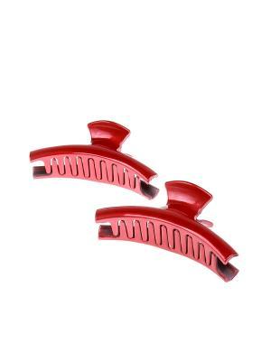 Комплект (Заколка краб - 2 шт.) Migura. Цвет: красный