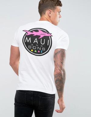 Maui & Sons Футболка с принтом логотипа. Цвет: белый