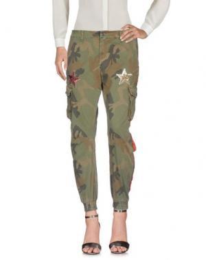 Повседневные брюки ITALOGY. Цвет: зеленый-милитари