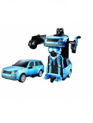 Робот на р/у 2,4GHz, трансформирующийся в спортивный автомобиль, синий 1Toy. Цвет: серый
