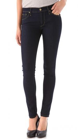 Джинсы-леггинсы с пятью карманами Twiggy James Jeans. Цвет: темно-синий