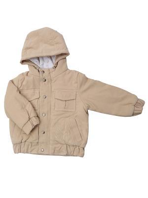 Куртка Клякса. Цвет: бежевый
