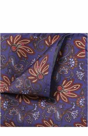Шелковый платок с узором Eton. Цвет: фиолетовый