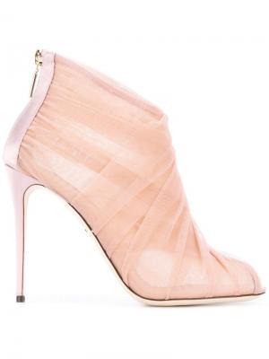 Тюлевые ботильоны Dolce & Gabbana. Цвет: розовый и фиолетовый