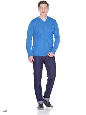 Пуловер Bilwelli. Цвет: лазурный