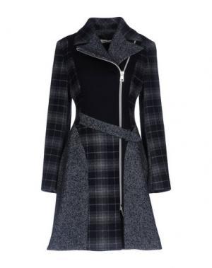 Пальто SONIA FORTUNA. Цвет: темно-синий