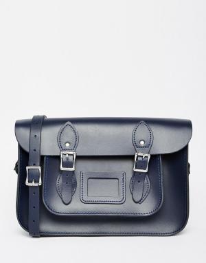 Leather Satchel Company Сумка сатчел. Цвет: синий